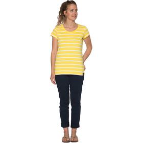 Elkline Anna - T-shirt manches courtes Femme - jaune/blanc